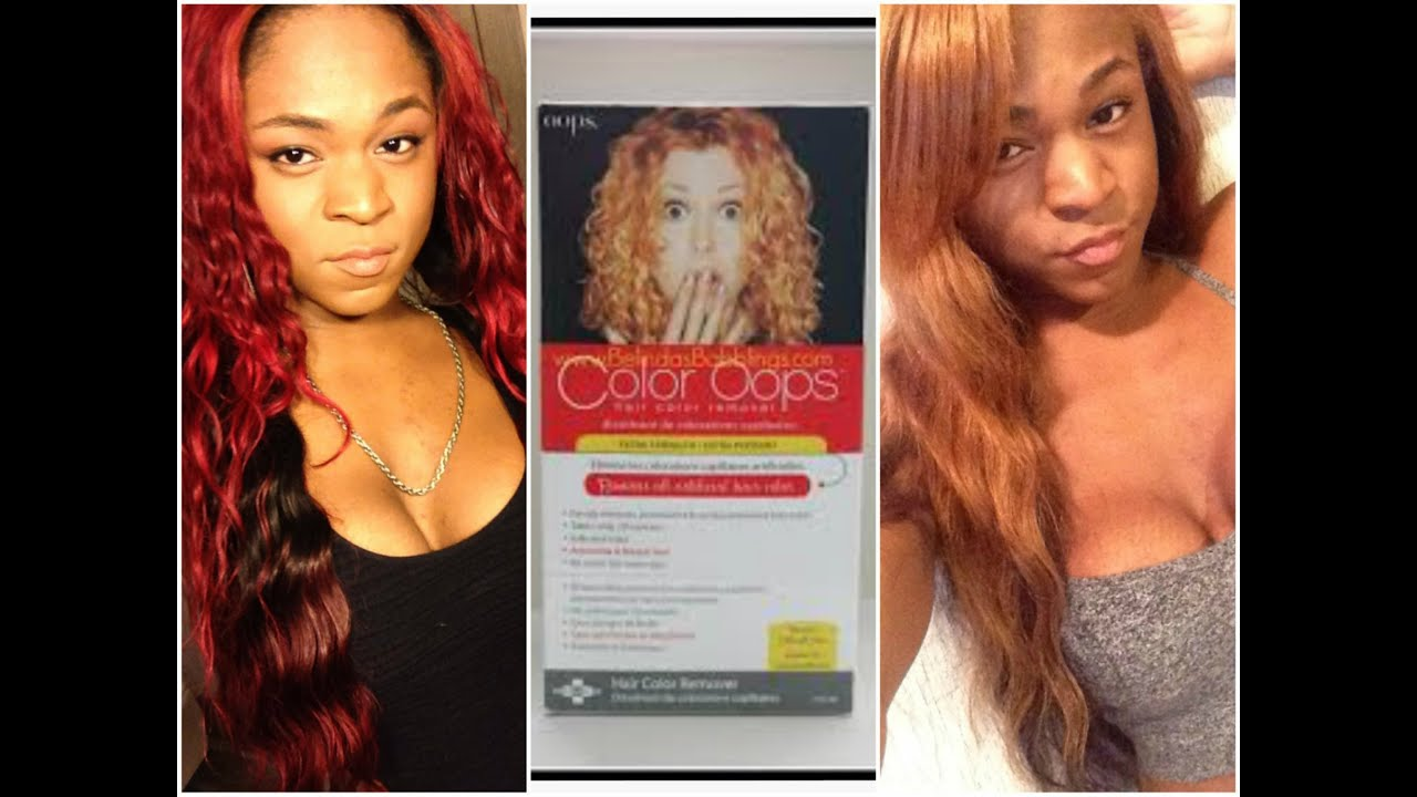 PRODUCT REVIEW !!!: Color Oops Red To Blonde
