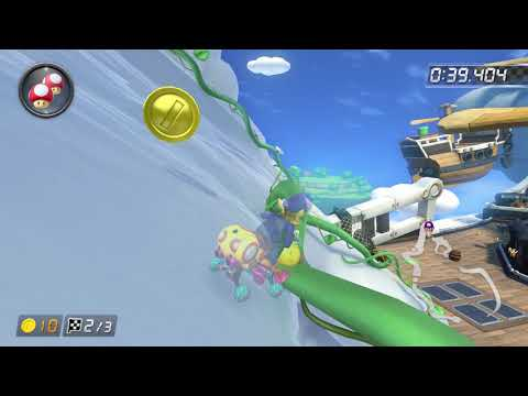 Cloudtop Cruise [200cc] - 1:29.504 - Alberto (Mario Kart 8 Deluxe World Record)