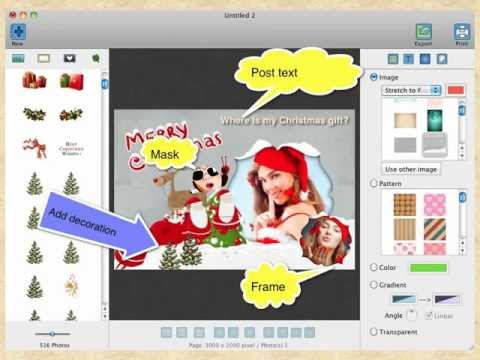 How To Make Greeting Cards And Photo Collages Christmas Card