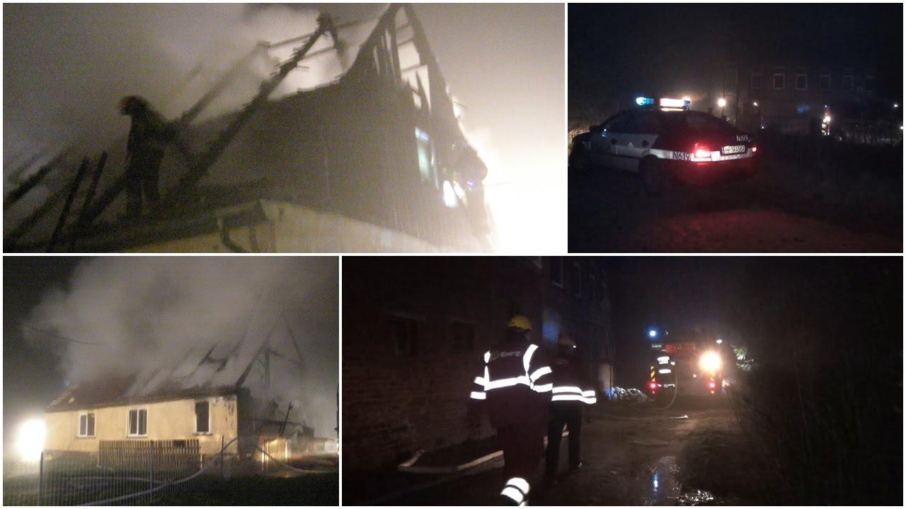 Pożar stodoły w Lisewie Malborskim i domu w Świerkach – 04-05.04.2017