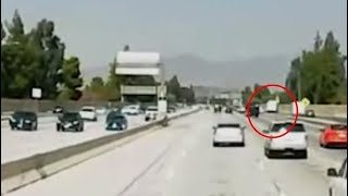 New bus crash dash cam video on 405 Fwy