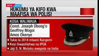 Maafisa wawili wa Kabete wahukumiwa kifo baada ya kuua