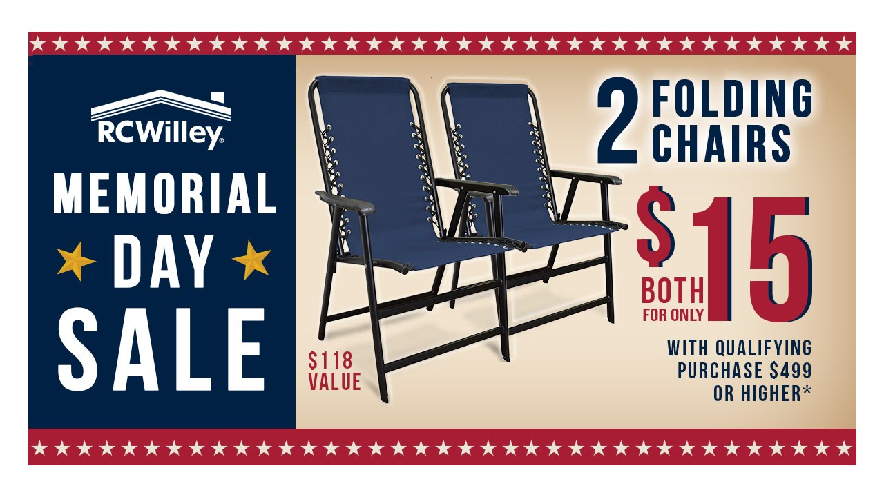 2016 RC Willey Memorial Day Sale   Chair Promo