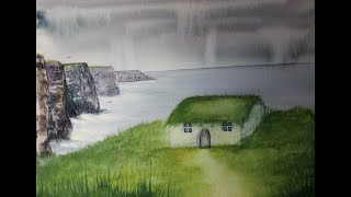 Easy Watercolour Cottage for Beginners