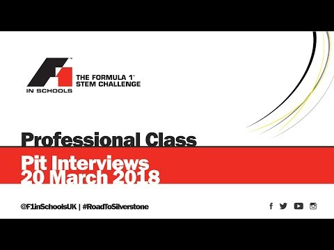 F1 in Schools UK National Final 2018 - Live Pit Interviews