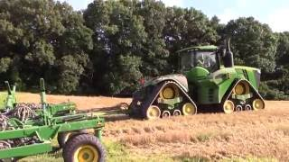 620 hp John Deere 9620RX and 60ft 1890 Air Drill on the Move