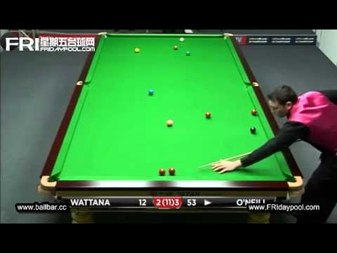 James Wattana vs Jamie O'Neill ~2012 UK Championship (qualfiers)