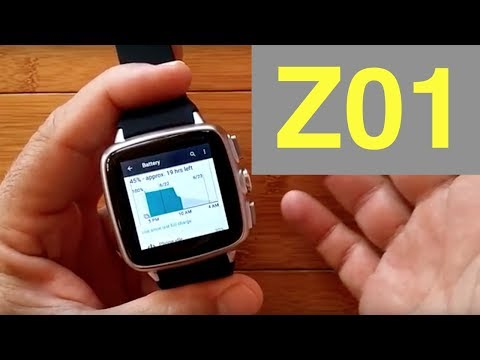 Z01 Square 1GB/8GB ANDROID 5.1 Smartwatch: Unboxing & 1st Look