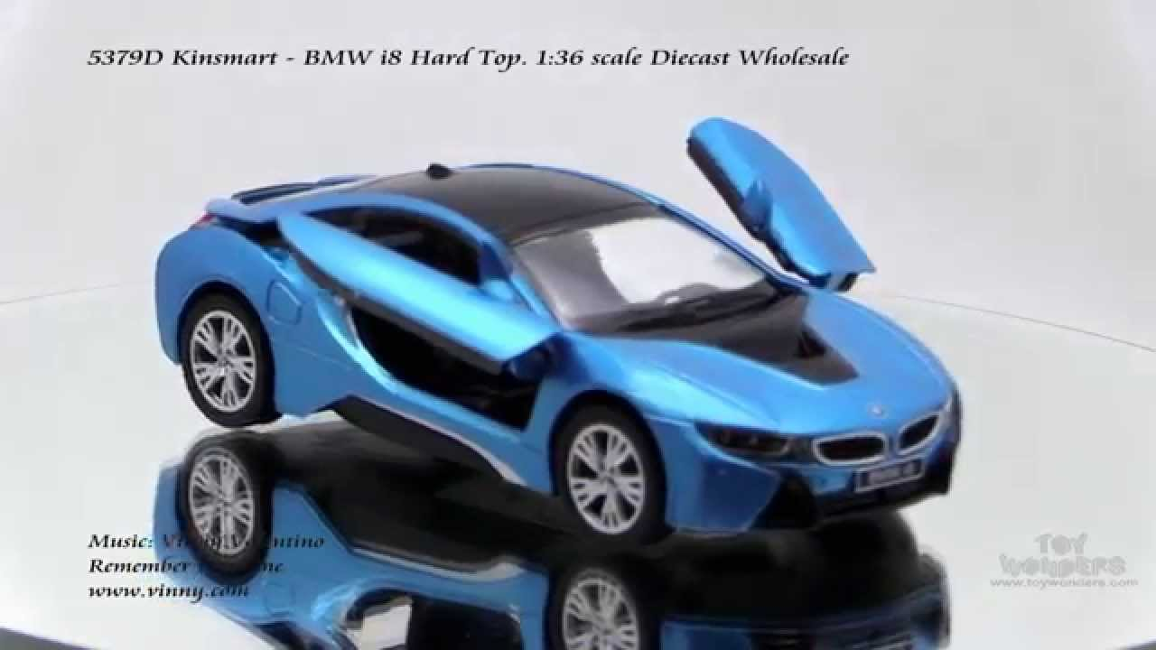 5379d Kinsmart Bmw I8 136 Scale Diecast Wholesale Youtube