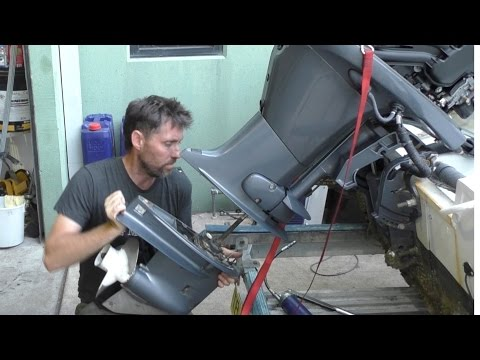Re-installing an outboard lower unit