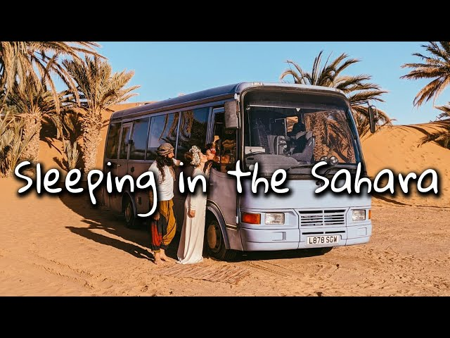 Sleeping in the Sahara Desert