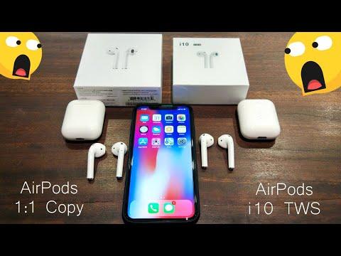 airpods-1:1-copy-&-airpods-i10-tws-comparison-review-😲😱