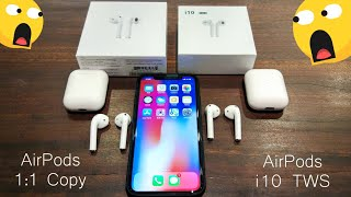 AirPods 1:1 Copy & AirPods i10 TWS Comparison Review 😲😱