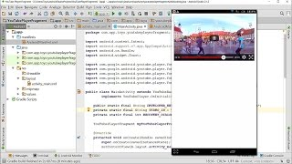Play Video using YouTube Player Fragment with YouTube Android Player API in Android Studio 2.1.2