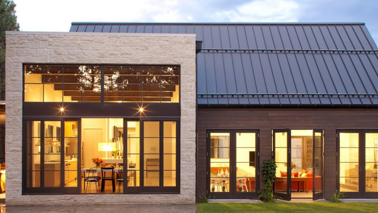 5 modern farmhouses interior design   youtube