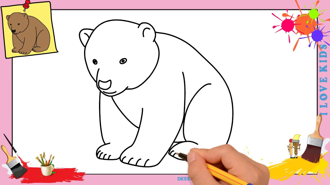 Dessin ours 4 facile comment dessiner un ours facilement etape par etape youtube - Comment dessiner un ours ...