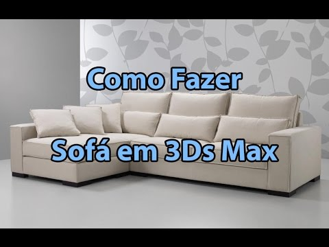 Tutorial fazendo um sof em 3d studio max youtube for Modelar habitacion 3d max