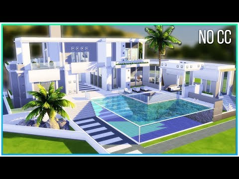 Sims 4 Speed Build - Minimalistic Mansion | Kate Emerald