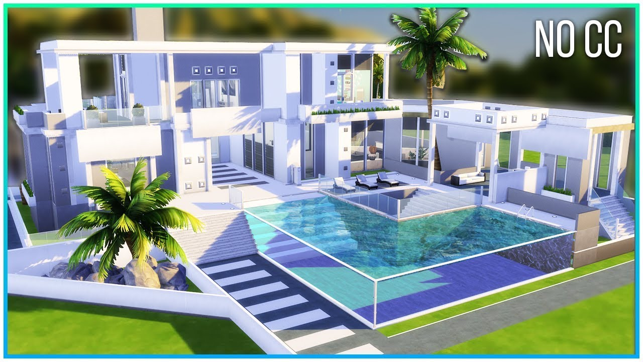 Sims 25 Speed Build - Minimalistic Mansion  Kate Emerald