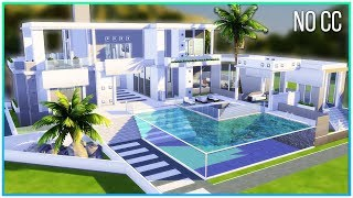 Sims 4 Speed Build - Minimalistic Mansion   Kate Emerald