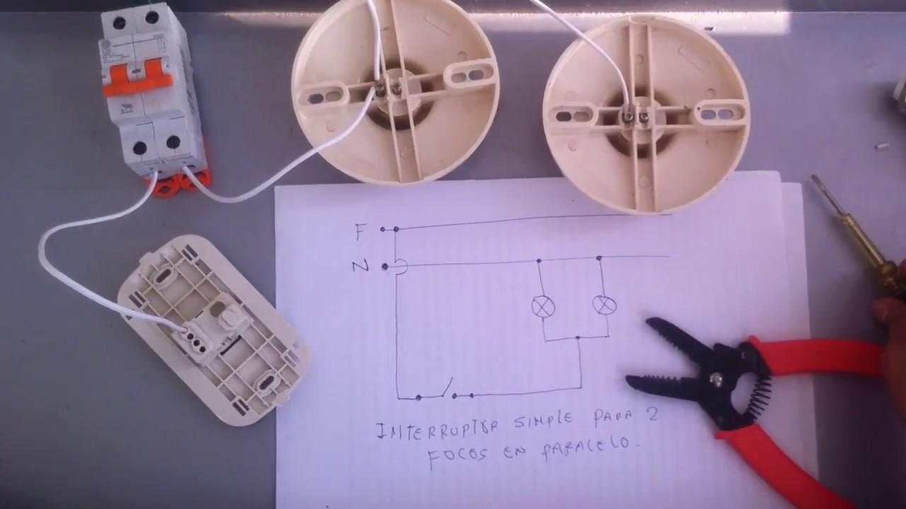 C mo conectar l mparas en paralelo controlados por un - Como instalar lamparas led ...