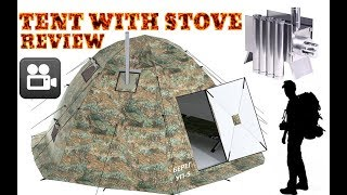 Tent with Stove Jack, Pipe Hole Pipe Vent - Winter Tent Camping with Wood Stove!