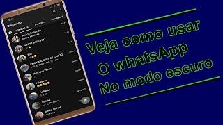 Veja como deixar Whatsapp no modo escuro