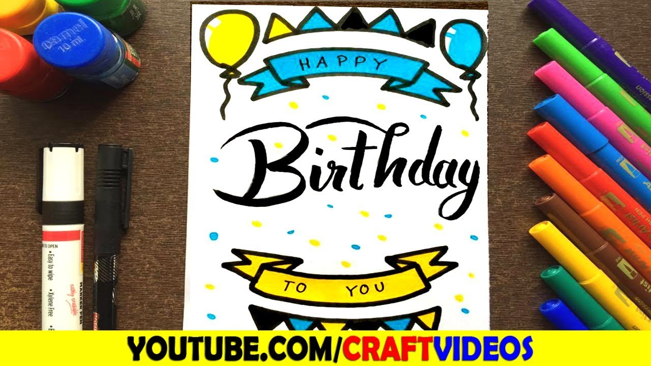 How To Draw Birthday Card For Dad Father Youtube
