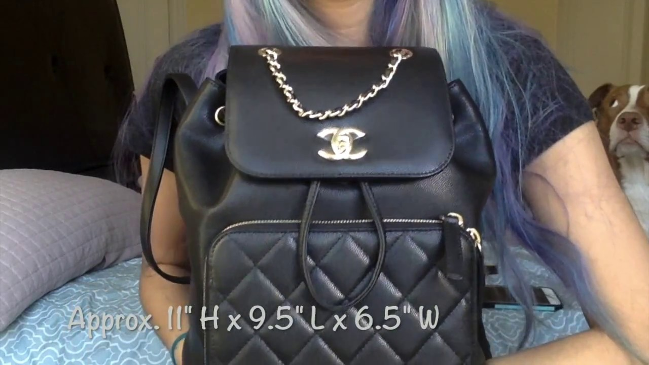 72911d03ee6c Chanel Business Affinity Backpack Overview - YouTube