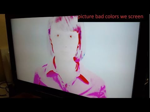 SONY KDL-37V4500 LCD TV repair picture bad colors we screen