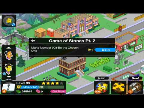 The Simpsons Tapped Out StoneCutters Update 2014 Part 2 With SuperMrAmazingPants Wantafight1