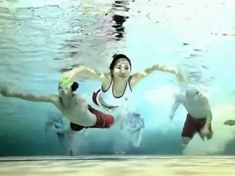 Yuri, Yoona swimming @ CABI MV Behind the scenes Caribbean Bay Jun 11, 2010 GIRLS