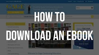 Gage CE: Download An E Book
