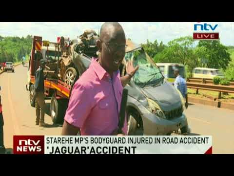 Jaguar's car involved in an accident on Thika road