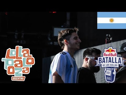 DTOKE WOS PAPO VS CHUTY SKONE INVERT - Red Bull LOLLAPALOOZA Exhibicion Argentina 2018