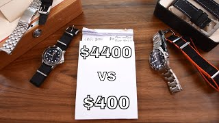 $4400 Omega SMPc vs $400 Marc & Sons Diver Sport II