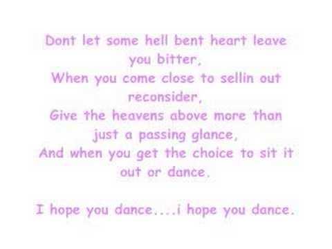 Lee Ann WomackI Hope you Dancewith lyrics