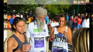 Baba Fauja Singh in Melbourne for Run for the Kids Marathon 2013
