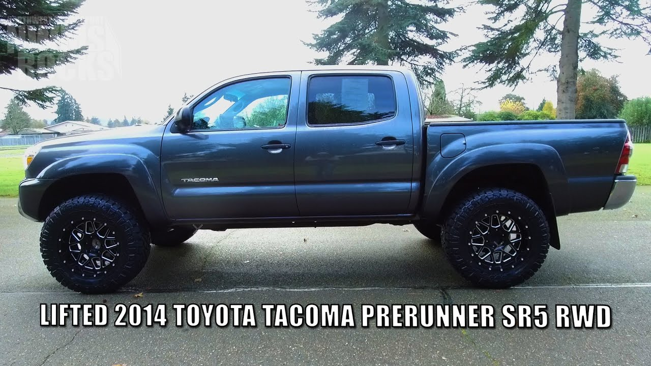 2014 Toyota Tacoma For Sale >> LIFTED 2014 TOYOTA TACOMA PRERUNNER SR5 RWD - YouTube
