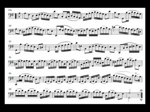 J. S. Bach Cello Suite n. 1 BWV 1007 - 3. Courante - Piano Transcription [tbpt49]