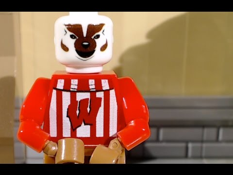 Lego Bucky Badger UW (Lego stop-motion / animation / brickfilm) comedy film