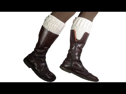 To Loom Knit Boot Cuffs Diy Tutorial