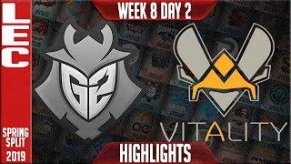 G2 vs VIT Highlights   LEC Spring 2019 Week 8 Day 2   G2 Esports vs Vitality