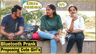Bluetooth Prank Proposing Cute Girl's - Epic Reactions - Pranks In India  By TCI