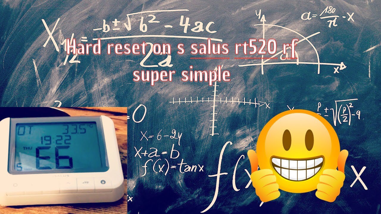 Hard Reset On Salus Rt 520 Rf Quick And Easy Youtube