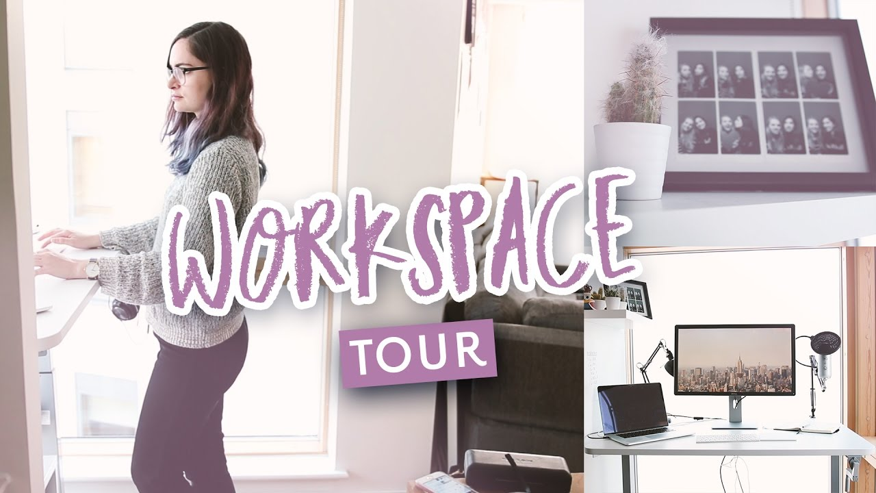 Design workspace tour - Working from home - YouTube