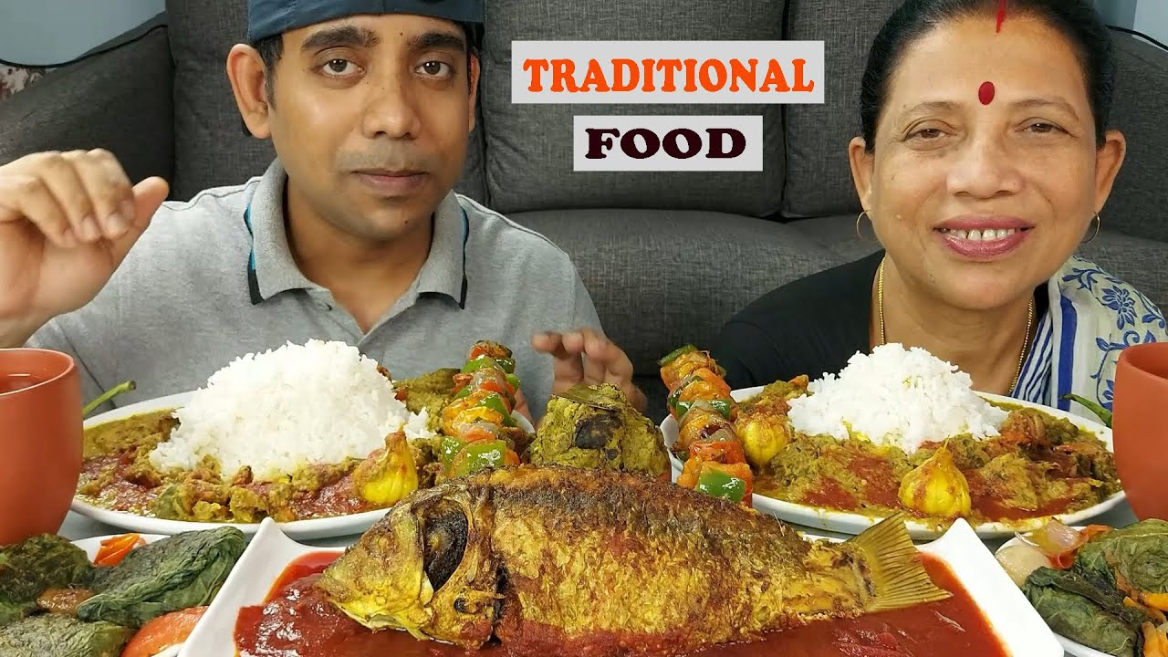 Traditional dish Eating With Rice Mukbang Delicious Food