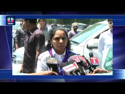 MP Kavitha As Chief Commissioner Of Bharat Scouts And Guides Meets Governor ESL Narasimhan |TFC News