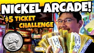 Tons of JACKPOTS and TICKET WINS Playing Arcade Games! $5 Arcade Challenge at Nickel Mania Arcade!