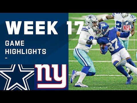 Cowboys vs. Giants Week 17 Highlights | NFL 2020